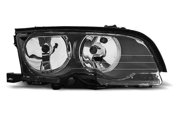 Тунинг десен рефлекторен фар черен за BMW 3 E46 04.2001-03.2003 купе/кабрио