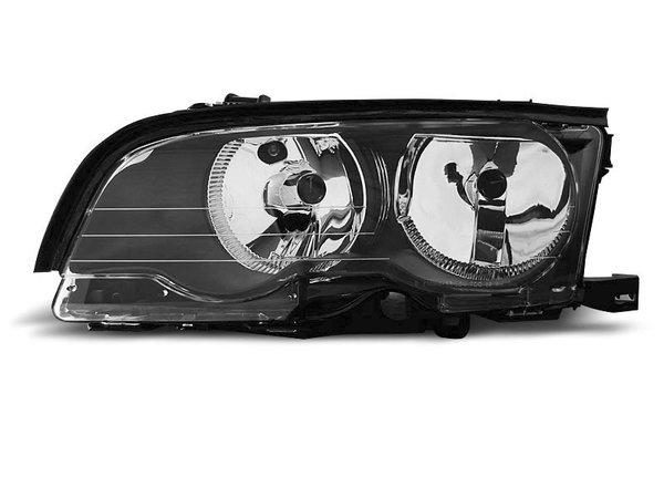 Тунинг ляв рефлекторен фар черен за BMW 3 E46 04.2001-03.2003 купе/кабрио