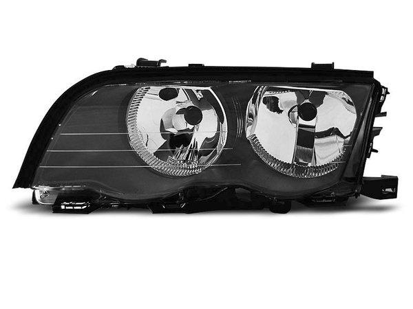 Тунинг ляв рефлекторен фар черен за BMW 3 E46 05.1998-08.2001 седан/комби