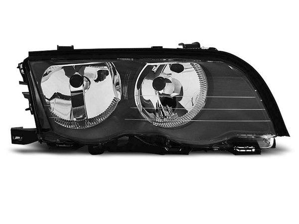 Тунинг десен рефлекторен фар черен за BMW 3 E46 05.1998-08.2001 седан/комби