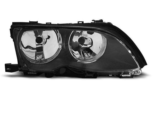 Тунинг десен рефлекторен фар черен за BMW 3 E46 09.2001-03.2005 седан/комби