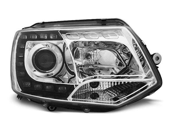Тунинг фарове хром с LED светлини за VW T5 2010-2015