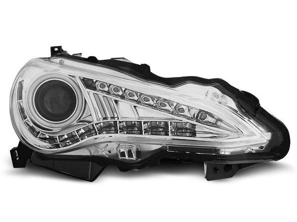 Тунинг фарове с LED светлини и ANGEL EYES за TOYOTA GT86 2012-