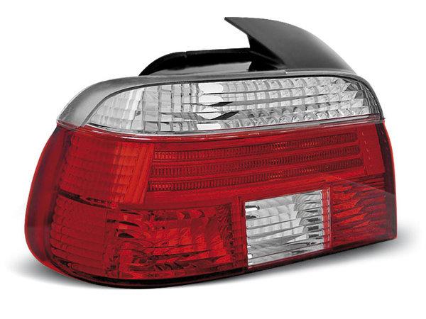 Тунинг стопове за BMW E39 09.1995-08.2000 седан с червена и бяла основа