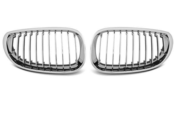 Тунинг решетки бъбреци хром за BMW E60/E61 07.03-10