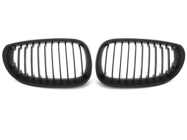 Тунинг решетки бъбреци черни за BMW E60/E61 07.03-10