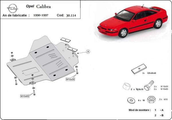 Метална кора под двигател и скоростна кутия OPEL CALIBRA от 1987 до 1997