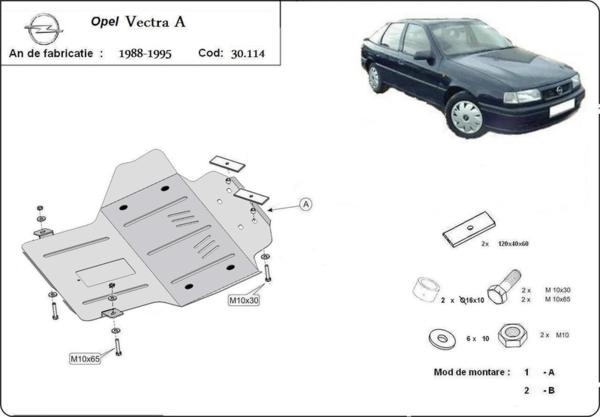 Метална кора под двигател и скоростна кутия OPEL VECTRA A от 1988 до 1992