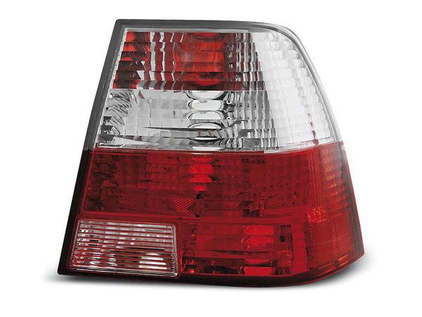 Тунинг стопове за Volkswagen BORA 09.1998-07.2005 седан с червена и бяла основа