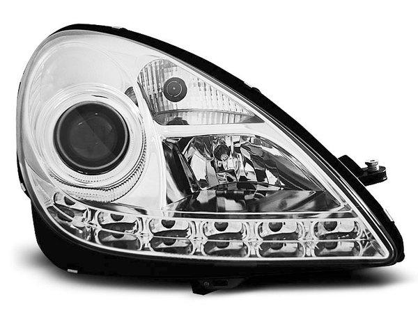 Тунинг фарове хром с LED светлини за MERCEDES R171 SLK 2004-2011
