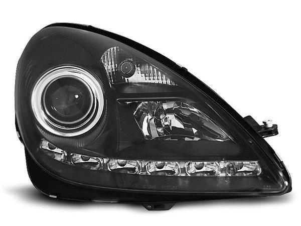 Тунинг фарове черни с LED светлини за MERCEDES R171 SLK 2004-2011