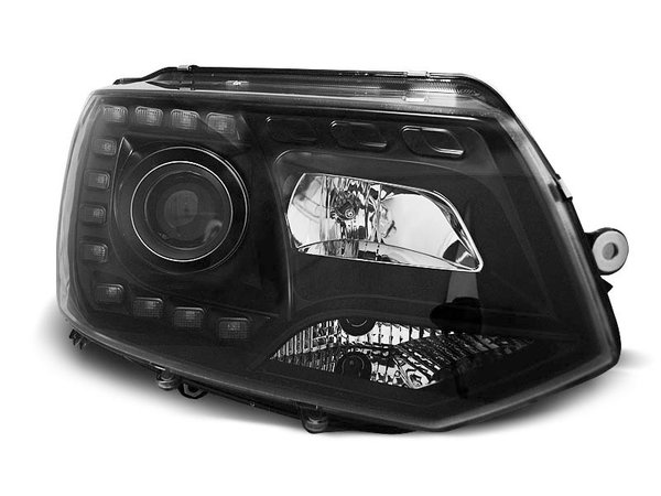 Тунинг фарове черни за VW T5 2010-2015-