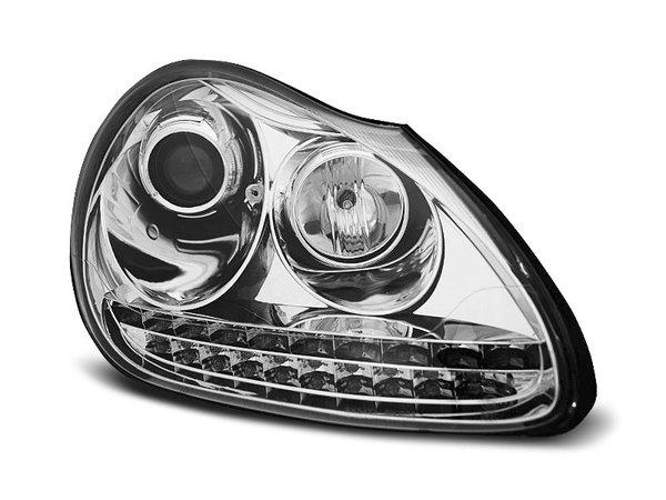 Тунинг фарове хром с LED светлини за PORSCHE CAYENNE 2002-2006