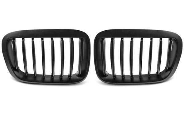 Тунинг решетки бъбреци черни за BMW E46 05.98-08.01