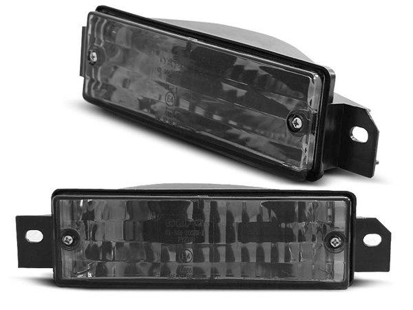 Тунинг мигачи кристални опушени в броня за BMW E30 87-06.94