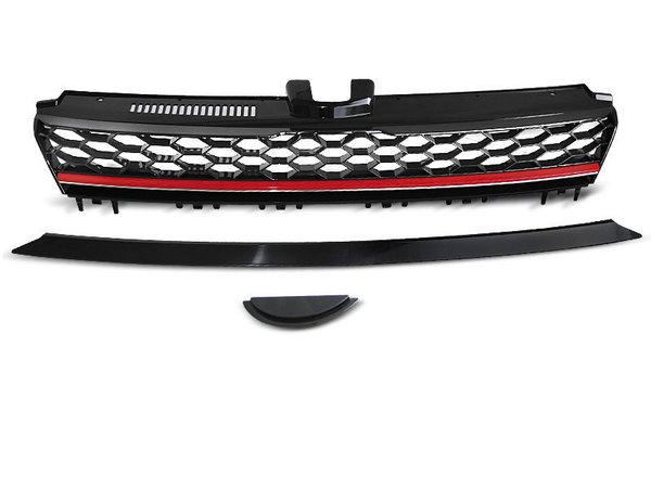 Тунинг решетка черна с червена линия за VW GOLF 7 GTI STYLE