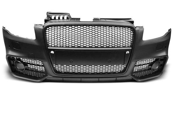 Тунинг броня предна черна за AUDI A4 04-08 RS STYLE PDC