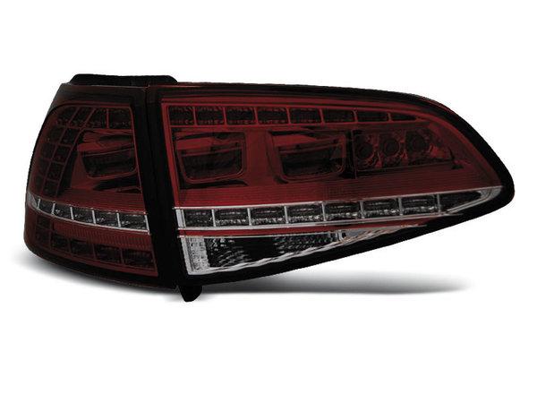 Тунинг LED стопове червено опушени за Volkswagen GOLF 7 2013- хечбек, версия без фабрични led стопове