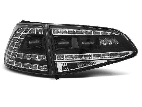 Тунинг LED стопове черни за Volkswagen GOLF 7 2013- хечбек, версия без фабрични led стопове