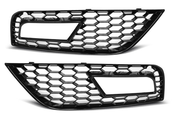 Тунинг решетки в броня черни за AUDI A4 (B8) 11.11-15