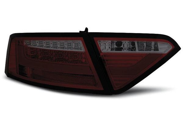 Тунинг LED стопове червено опушено за Audi A5 2007-06.2011 купе, версия без фабрични led стопове