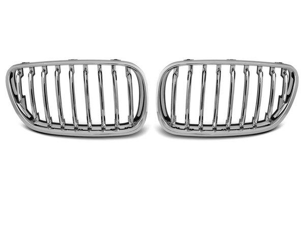 Тунинг решетки бъбреци хром за BMW X3 E83 09.06-08.10