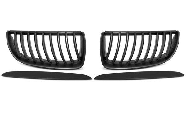 Тунинг решетки бъбреци черен мат за BMW E90 / E91 03.05-08.08