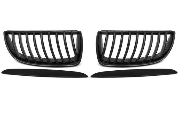 Тунинг решетки бъбреци черен лак за BMW E90 / E91 03.05-08.08