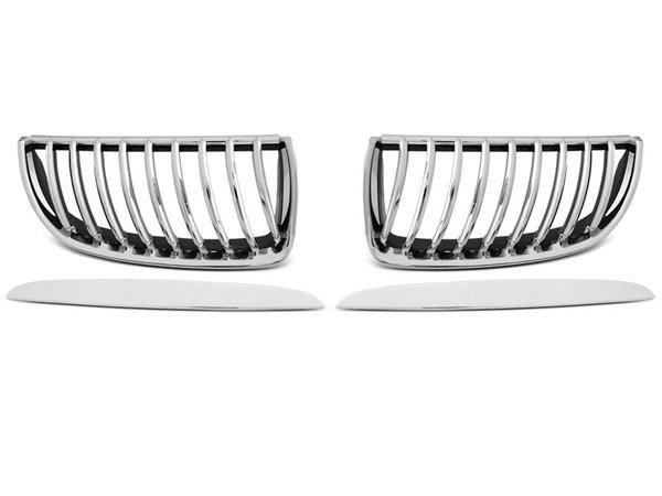 Тунинг решетки бъбреци хром за BMW E90 / E91 03.05-08.08