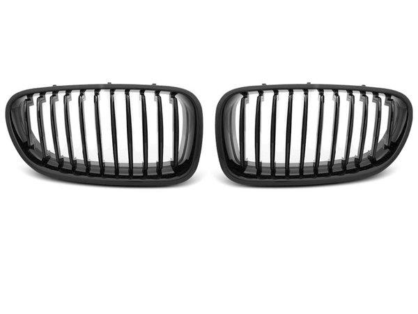 Тунинг решетки бъбреци черен лак за BMW F10 / F11 10-