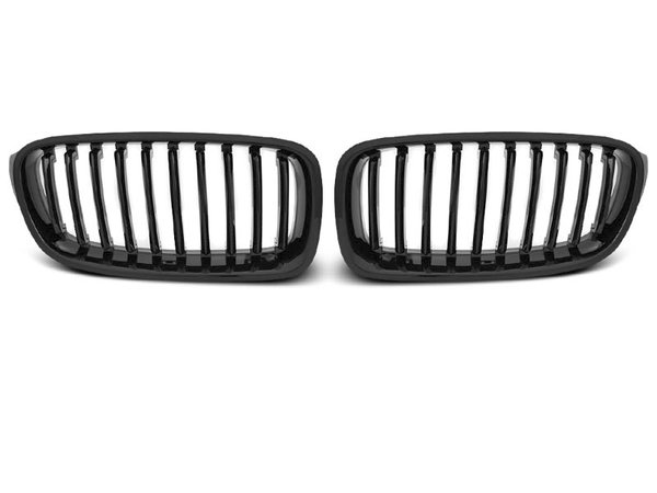 Тунинг решетки бъбреци черен лак за BMW F30 / F31 10.11-