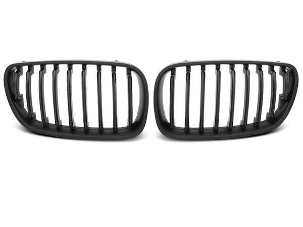 Тунинг решетки бъбреци черен мат за BMW X3 E83 09.06-08.10