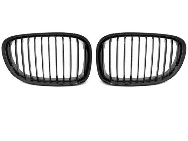 Тунинг решетки бъбреци черен лак за BMW F01 09-07.12