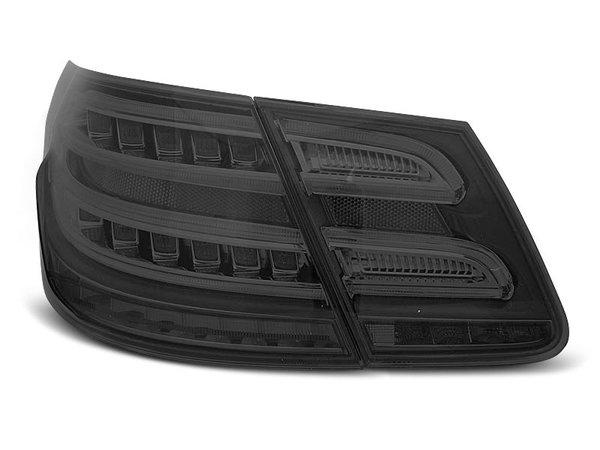 Тунинг LED стопове опушени за Mercedes W212 E-класа 2009-2013 седан, версия с led мигачи във фабричните стопове