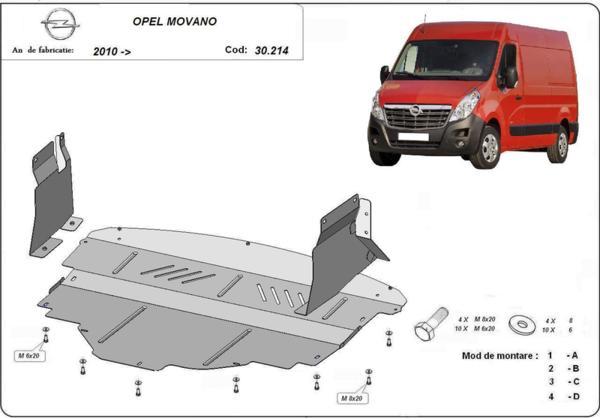 Метална кора под двигател и скоростна кутия OPEL MOVANO от 2010