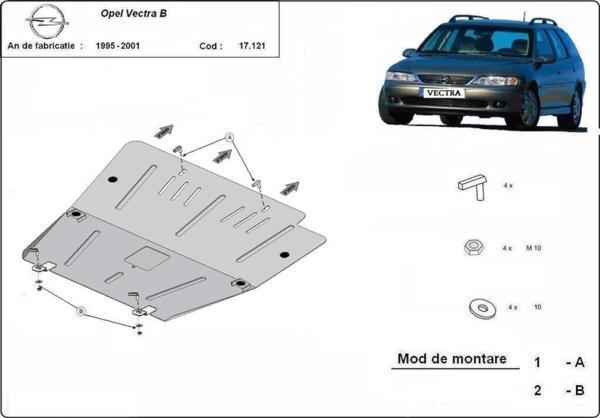 Метална кора под двигател и скоростна кутия OPEL VECTRA B от 1995 до 1998