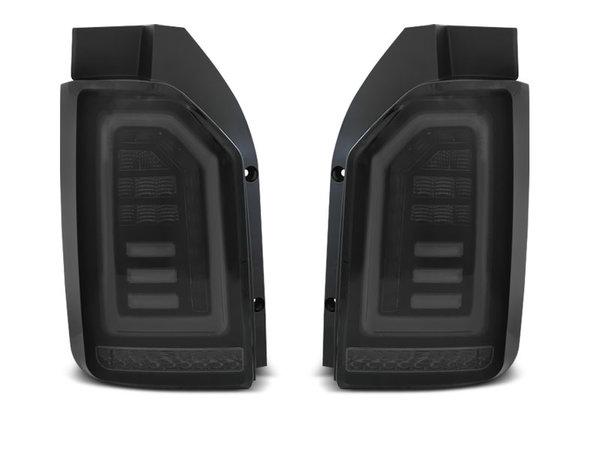 Тунинг LED BAR стопове хром опушени с динамични мигачи за VW T6 2015-