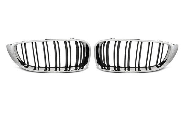 Тунинг решетки бъбреци черни с хром рамка за BMW F32,F33,F36 13- M4 LOOK