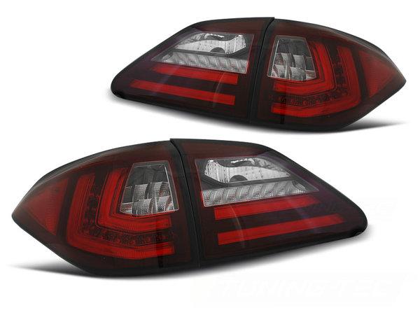 Тунинг LED BAR стопове червено бяло с динамични мигачи за LEXUS RX III 350 09-12