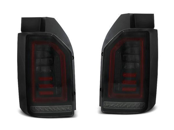 Тунинг LED BAR стопове червени опушени с динамични мигачи за VW T6 2015-