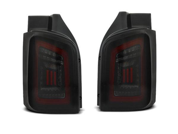 Тунинг LED BAR стопове опушено черно червено с динамични мигачи за VW T5 04.03-09 / 10-15