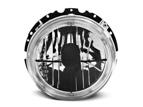 Тунинг фарове ANGEL EYES кристални черна кръстачка за VW GOLF 1 05.1974-07.1983 ВЪТРЕШНИ - халогени