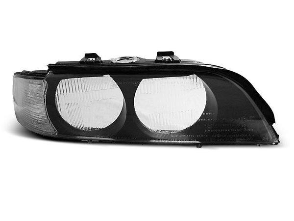 Тунинг стъкла за фарове с бял мигач и черна основа за крушки H7 за BMW E39 95-00