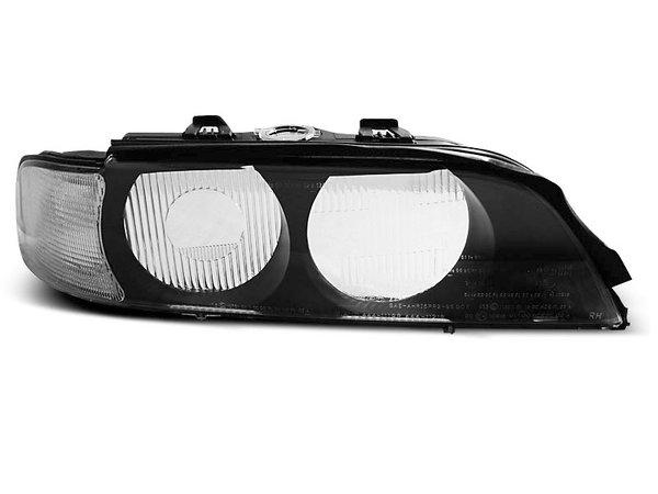 Тунинг стъкла за фарове с бял мигач и черна основа за ксенон за BMW E39 95-01