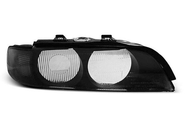 Тунинг стъкла за фарове с черен мигач и черна основа за ксенон за BMW E39 95-02