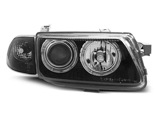 Тунинг фарове черни с мигач за OPEL ASTRA F 09.1994-08.1998