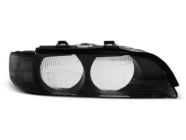 Тунинг стъкла за фарове с черна рамка и черен мигач за кушка H7 za BMW E39 95-00
