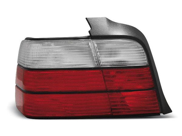 Тунинг стопове за BMW E36 12.1990-08.1999 седан с червена и бяла основа
