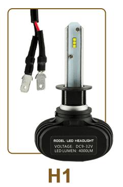 Лед крушки H1 9V-32V +200% светлина