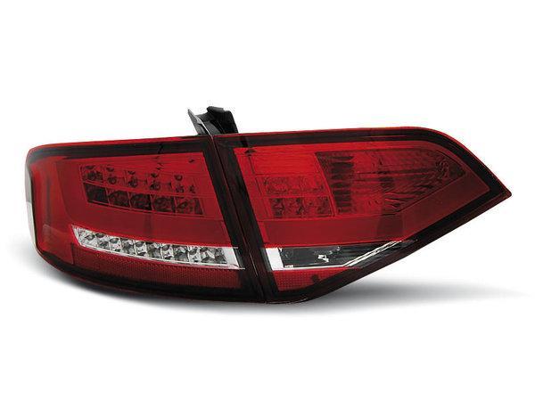 Тунинг LED стопове за Audi A4 B8 2008-2011 седан, версия без фабрични led стопове - червени